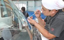 ガラスの修理